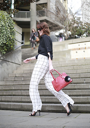 Anne Dofelmier - Necessary Clothing Wide Leg Pants - WINDOWPANE CHECK WITH NECESSARY CLOTHING