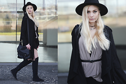 Kim Ahrens - Zara (Top), H&M Hat (H&M), H&M Overknees (H&M), New Look Necklace (New Look) - First Spring Vibes