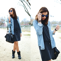Silvia Rodriguez - Maison Scotch Shirt, Samsoe Dress - Denim shirt