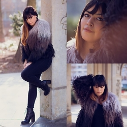 Carlinka Marisol - New Yorker Fake Fur Jacket, Monki Jeans, Bullboxer Leather Boots - In love with some fake fur