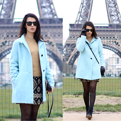 Vania - Michael Kors Bag, Zara Coat, Ray Ban Sun Glasses - Two hearts