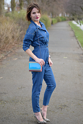 LAFOTKA -  - Denim Jumpsuit...