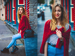 Anna Pogribnyak - Znu Sweater, Topshop Boots, Pull & Bear Jeans - Kenmare look