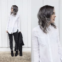 Mary Ellen Skye - All Saints Jackets, Urban Outfitters Shirt - White shirt