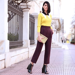 Konstantina Tzagaraki - Blouse, Diane Von Furstenberg Bag, Booties - Limitless are my boundaries for you..