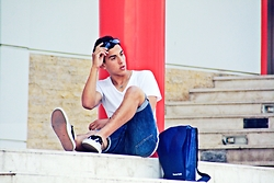 Ayoub Ahlafi - Vans Shoes, Nudie Jeans Short, Zara T Shirt - BE YOURSELF .l.