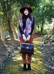 Charlotte C - Accessorize Scarf, Accessorize Hat, H&M Trousers, Accessorize Bag - Woodland