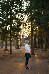 Kathryn Bagley - Pullover: Thrifted, Sheinside Skirt, Asos Shoes - For the trees