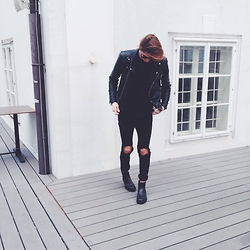 Richy Koll - H&M Chealse Boots, H&M Jeans, Zara T Shirt, Zara Leather Jacket - Loyal.
