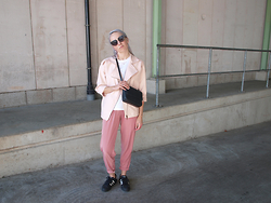 Zoé Hermsen - Asos Trousers, Otherstories Bag - Black Pink White (insta: zoehermsen)