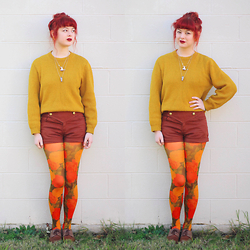 Annika Victoria - Floral Tights, Eclectic Eccentricity Space Necklaces - All The Colours