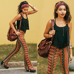 Alana Ruas - Romwe Top, Stacked Beautifully Necklace, Pylo Pants - I feel India in my bones