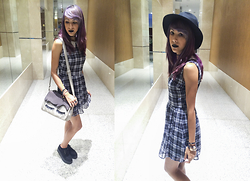 ☽ Lara Kneip ☾ - Forever 21 Black Hat, Forever 21 Dress, Imaginarium Eyes Bag - Beautiful Eyes
