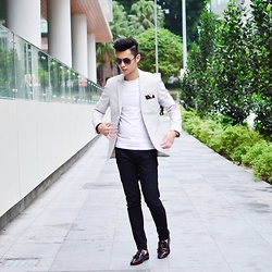 Jon Tan - Asos Loafers, Topman Stripe Blazer - Stripe Sight