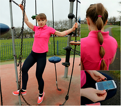 Veronica Kravtsova - Sports Direct Polo Shirt, Sports Direct Leggings, Atmosphere Sneakers - SPORT SHOWS US WHO WE ARE