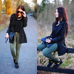 Klaudia Warasiecka - Lookbookstore Coat, Nike Shoes, Bershka Pants - Air force in classy way