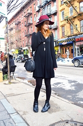 Austen Tosone - Forever 21 Hat, Gypsy Warrior Dress, Zara Boots - Brooklyn bound