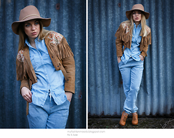 Katarzyna Gorlej - Stradivarius Shirt, Bershka Pants, Stradivarius Cowboy Hat - SO YOU SAID I'M FROM TEXAS..?