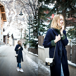TIPHAINE MARIE - Coat, Sweater, Bag, Sneakers, Watch - Pine trees.