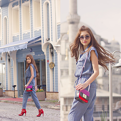 Ruslana Gee - Mango Jumpsuit, Bershka Sandals, Nine West Bag, Six Sunglesses - Unplugged In Istanbul