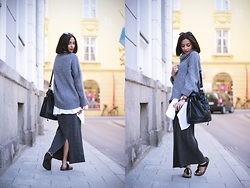 JANIKA BUBELA - Pimkie Sunglasses, H&M Sweater, Pimkie Handbag, Vintage Skirt, Birkenstock Shoes, Daniel Wellington Watch - MUNICH STREETSTYLE