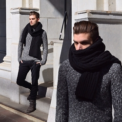 Aaron Wester - Joe Fresh Sweater, Banana Republic Scarf - It's Not Spring Yet!