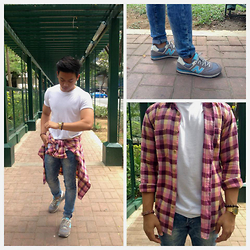 Ryan Damasco - H&M Shirt, H&M Jeans, New Balance Sneakers, Uniqlo Polo, Casio Wrist Watch - Plaid and Simple