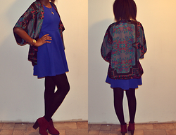 Viona Wambui - Forever 21 Kimono, H&M Dress, Aldo Watch, Callitspring Booties, Forever 21 Necklace - OOTD: Spring