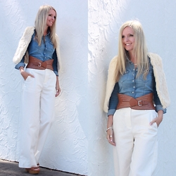 Bianca - Country Road Wide Leg, H&M Denim Shirt - 70's inspired chic