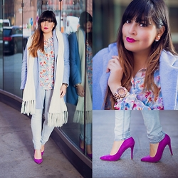 Carlinka Marisol - Marc By Jacobs Watch, Bershka Coat, Primark Heels, H&M Pants, Noname Scarf - MY FAVORITE PASTEL COAT