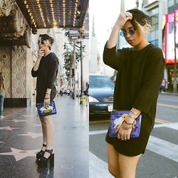 Shooka R - Privileged Shoes, Motel Dress, Poppy Lissiman Bag, Incognito Sunglasses - Cleanse.