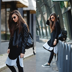 Larisa Costea - Sheinside Sweater, Sheinside Jeans, Converse Sneakers, Marc By Jacobs Watch - Sporty casual