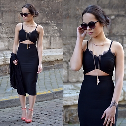 Stephanie R - Missguided Dress, Justfab Shoes, H&M Sunglasses - Goodmorning Malena