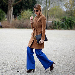 Iris . - Mango Suede Coat, Flare Jeans - THE SUEDE COAT