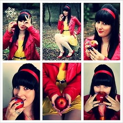 Lulu Gabriella - Melissa Wizard Of Oz, Planet Girls Red Leather Jacket, Morana Infinity Necklace - Moderm Snow Withe