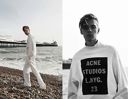 Mikko Puttonen - Acne Studios Sweater, Trousers - WHITE