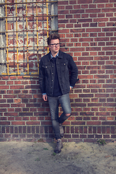 Daniel Smandzik - Topman Denim Jacket, Cos Jumper, Tommy Hilfiger Shirt, Asos Ripped Jeans, Belmondo Boots - I want you to know