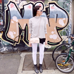 Yvette H - Sass And Bide Cashmere Sweater, Chanel Mini Flap Bag, Chloé Susanna Boots, Paige Denim Jeans - In the Street - Melbourne edition
