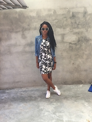 Abongwe Qokela - Mr Price Shirt, Cotton On Dress, Converse Shoe Game - Tropical