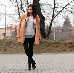 ANETTE ...ideaforfashion - Sheinside Coat - Camel Coat