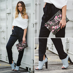 Friend in Fashion * - Bassike High Waisted, Balenciaga Mule, Givenchy Floral - STATEMENT ACCESSORIES