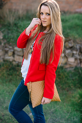 Emma MAS - Stradivarius Emma Loves Fashion, Pull & Bear Emma Loves Fashion, Stradivarius Emma Loves Fashion - RED JACKET