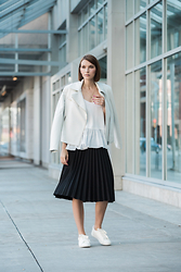 Ania B - Joe Fresh Jacket, Club Monaco Top, Joe Fresh Skirt, Joe Fresh Shoes - My style city