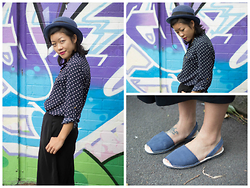 Margaret Ye - Tokito Top, Marcs Culottes, Alohas! Sandals - Postcard from autumn.
