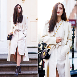 Anouska Proetta Brandon - H&M Duster, Similar Duster, H&M Dress, Chloé Bag, Similar Boots - New Beginnings