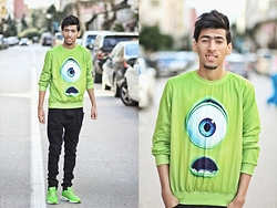 Hamza Rouah - Sheinside Green Monster, Zara Blvck, Nike Air Max - Green Monster