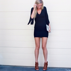 Bianca - Zara Lbd, Nine West Booties - Fringed LBD