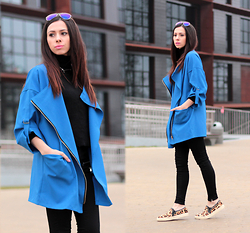 ANETTE ...ideaforfashion - Sheinside Cardigan - COBALT