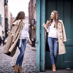 Agata Solak - Faith Boots, River Island Jeans, Zara Trench Coat, Awear Top - Classic pieces