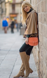 Tijana J.D - Rosegal Cape, Primark Bag, Sfera Pants, Zara Boots - Winter - Spring (0-0)